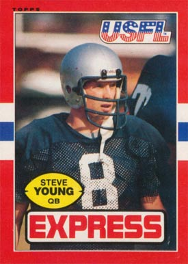 1985 Topps USFL Steve Young #65 Football Card