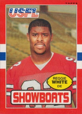 1985 Topps USFL Reggie White #75 Football Card