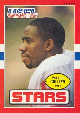 1985 Topps USFL Willie Collier #11 Football Card