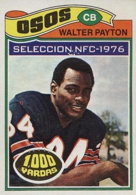 1977 Topps Mexican Walter Payton #360 Football Card