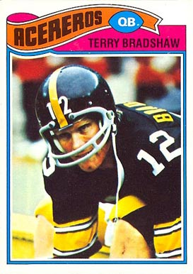 1977 Topps Mexican Terry Bradshaw #245 Football Card