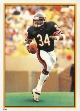 1985 Topps Stickers Walter Payton #156 Football Card