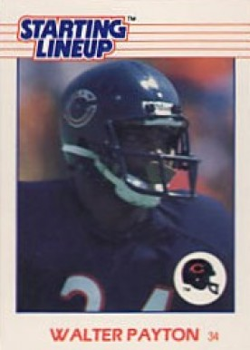 1988 Kenner Starting Lineup Walter Payton #105 Football Card