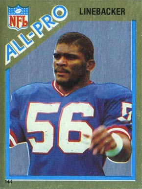 1982 Topps Sticker Lawrence Taylor #144 Football Card