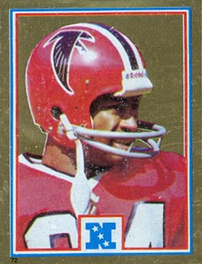 1982 Topps Sticker Alfred Jenkins #72 Football Card