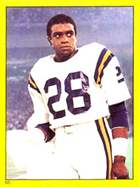 1982 Topps Sticker Ahmad Rashad #65 Football Card