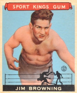 1933 Goudey Sport Kings Jim Browning #41 Boxing & Other Card