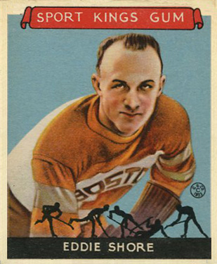1933 Goudey Sport Kings Eddie Shore #19 Hockey Card