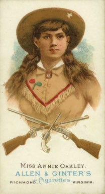 1888 Allen & Ginter Annie Oakley #38 Boxing & Other Card