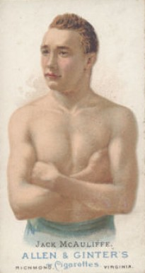 1888 Allen & Ginter Jack McAuliffe #31 Boxing & Other Card