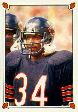 1987 Topps Stickers Walter Payton #14 Football Card
