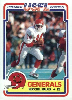 1984 Topps USFL Herschel Walker #74 Football Card