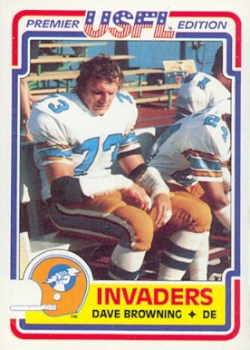 1984 Topps USFL Dave Browning #85 Football Card