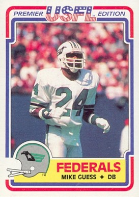 1984 Topps USFL Mike Guess #126 Football Card