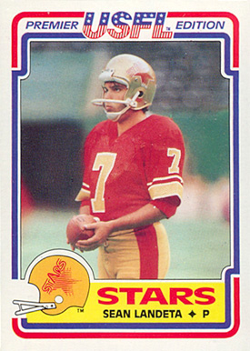 1984 Topps USFL Sean Landeta #102 Football Card