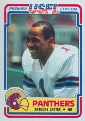 1984 Topps USFL Anthony Carter #59 Football Card
