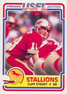 1984 Topps USFL Cliff Stoudt #16 Football Card