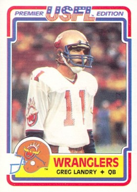 1984 Topps USFL Greg Landry #4 Football Card