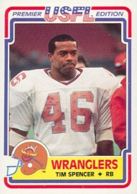 1984 Topps USFL Tim Spencer #7 Football Card