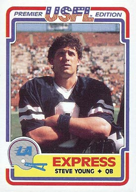 1984 Topps USFL Steve Young #52 Football Card