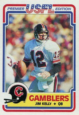 1984 Topps USFL Jim Kelly #36 Football Card
