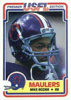 1984 Topps USFL Mike Rozier #109 Football Card