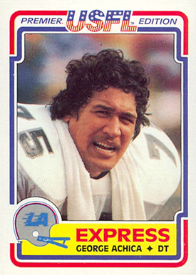 1984 Topps USFL George Achica #45 Football Card
