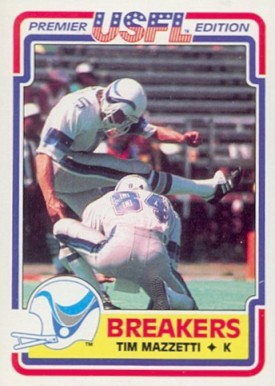 1984 Topps USFL Tim Mazzetti #78 Football Card
