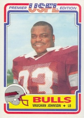 1984 Topps USFL Vaughn Johnson #42 Football Card