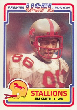 1984 Topps USFL Jim Smith #15 Football Card