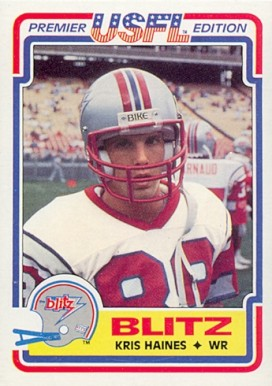 1984 Topps USFL Kris Haines #20 Football Card