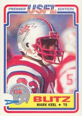 1984 Topps USFL Mark Keel #22 Football Card