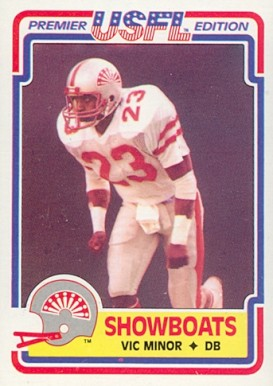 1984 Topps USFL Vic Minore #56 Football Card