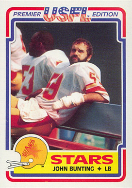 1984 Topps USFL John Bunting #98 Football Card