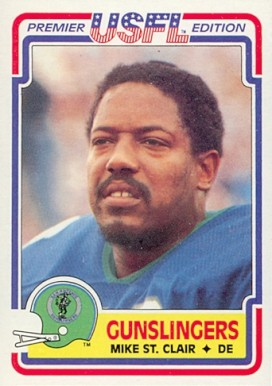 1984 Topps USFL Mike St. Clair #116 Football Card
