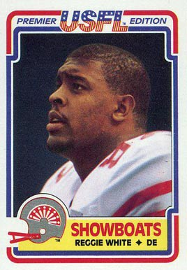 1984 Topps USFL Reggie White #58 Football Card