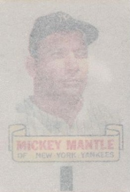1966 Topps Rub-Offs Mickey Mantle #57 Baseball Card