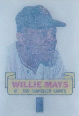 1966 Topps Rub-Offs Willie Mays #60 Baseball Card