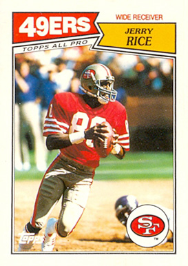1987 Topps American/UK Jerry Rice #30 Football Card