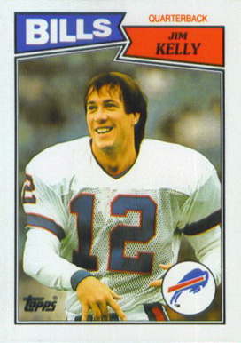 1987 Topps American/UK Jim Kelly #72 Football Card