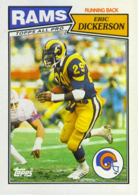 1987 Topps American/UK Eric Dickerson #36 Football Card