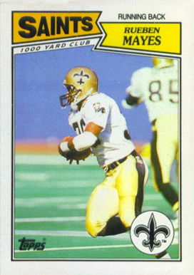 1987 Topps American/UK Rueben Hayes #59 Football Card