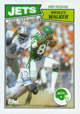1987 Topps American/UK Wesley  Walker #35 Football Card