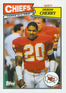 1987 Topps American/UK Deron Cherry #39 Football Card