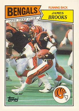 1987 Topps American/UK James Brooks #44 Football Card