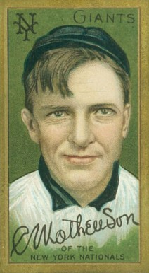 1911 Gold Borders Christy Mathewson #133 Baseball Card