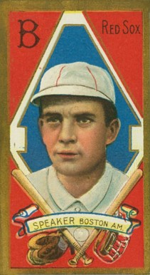 1911 Gold Borders Tris Speaker #189 Baseball Card