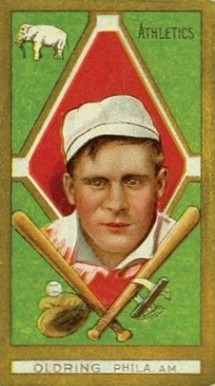 1911 Gold Borders Rube Oldring #158 Baseball Card