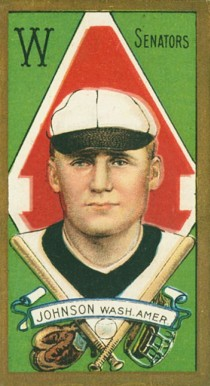 1911 Gold Borders Walter Johnson #103 Baseball Card