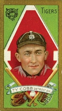 1911 Gold Borders Ty Cobb #37 Baseball Card